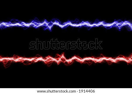 Electric lighting lines (blue and red)- abstract