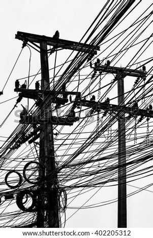 electric line silhouette