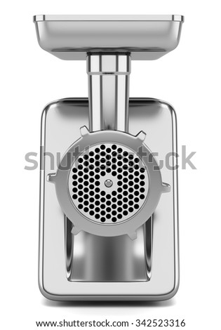 electric meat grinder isolated on white background - stock photo