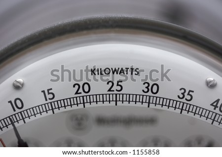 Electric Meter Close Up - stock photo