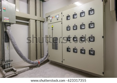 Electric Meter Voltage Control Room Building Stock Photo (Royalty ...