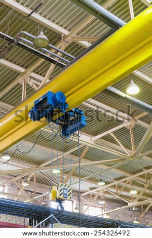 electric monorail hoist for industrial enterprise - stock photo