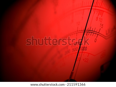 Electric multi meter close up shot - stock photo