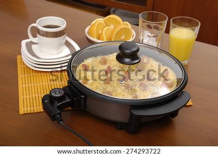 electric pan - stock photo
