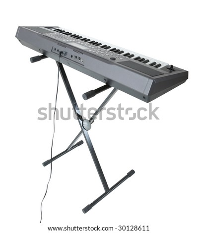 electric piano isolated on white