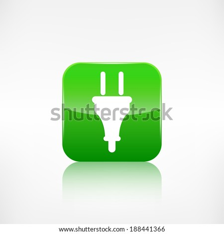 electric plug icon. electric fork symbol - stock photo