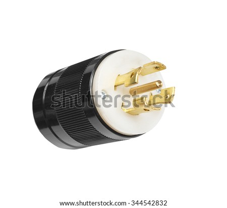 Electric plug isolated - stock photo