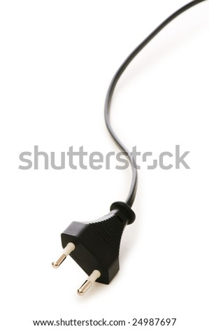Electric plug isolated on the white background - stock photo