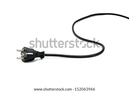 electric plug isolated on white
