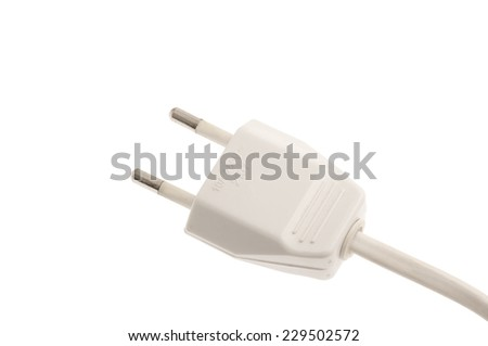 electric plug isolated on white background - stock photo