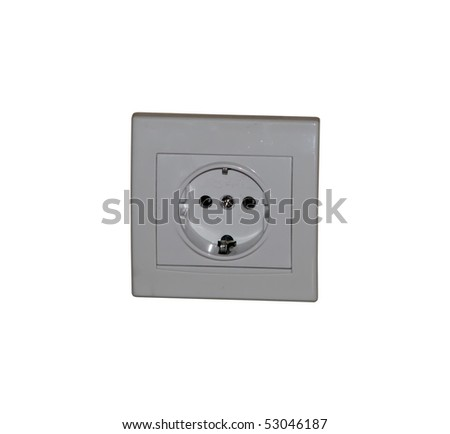 electric plug. wall electric plug. - stock photo