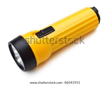 Electric Pocket Flashlight - stock photo
