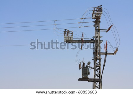 electric pole - stock photo