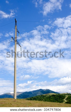electric pole in the mountains