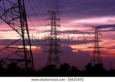 Electric Poles - stock photo