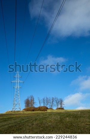 electric poles and sky