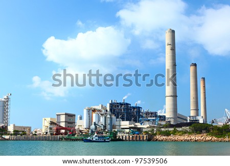 electric power plant - stock photo