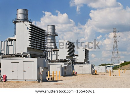 Electric Power Substation - stock photo