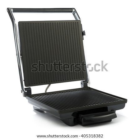 Electric sandwich maker isolated on white background.