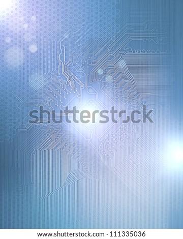Electric scheme for design use. Colour illustration - stock photo
