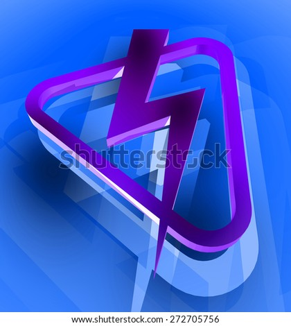 electric sign - stock photo