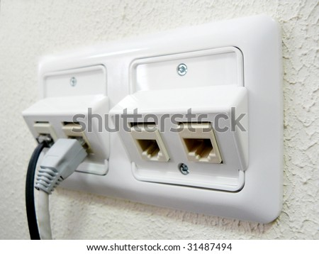 Electric socket. Element of design. - stock photo