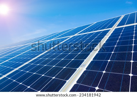Electric solar panel - stock photo