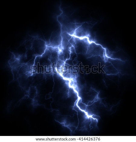 Electric storm. A bright flash of lightning closeup. A high resolution. - stock photo