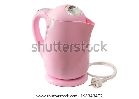 Electric teapot - it is isolated on a white background - stock photo