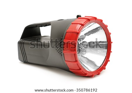 electric torch isolated on white background - stock photo