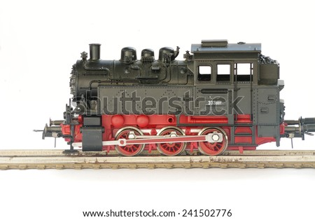 electric train toy - stock photo