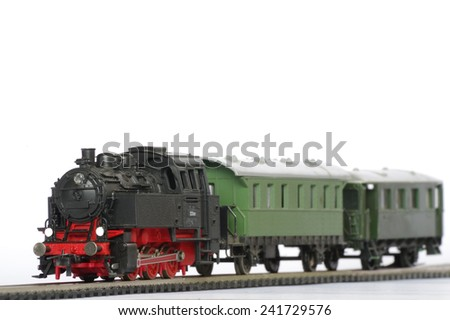 electric train toy objects miniature  - stock photo