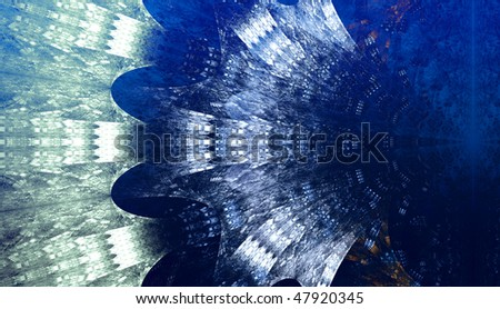 Electric waves background, blue color, abstract