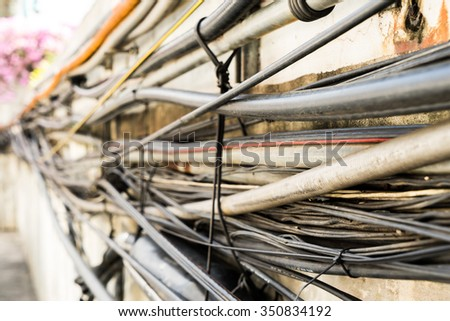 electric wired - stock photo