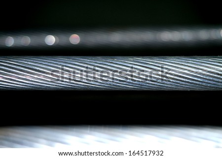 Electrical aluminum conductor - stock photo