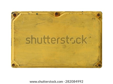 Electrical box cover isolated on white background