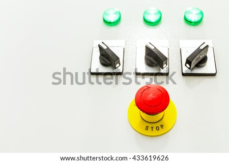 Electrical cabinet with connectors is providing electrical energy to residential place. - stock photo