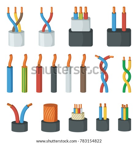 Electrical Cable Wires Different Amperage Colors Stock ...