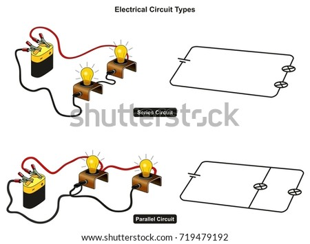 Electrical Circuit Types Infographic Diagram Showing Stock ...