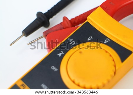 Electrical clamp meter ,electrical measure - stock photo