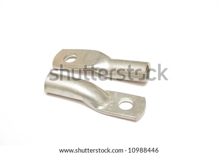 electrical clamps on the isolated background - stock photo
