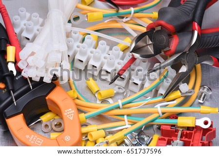 Electrical Component Kit And Tools To Use In Installations