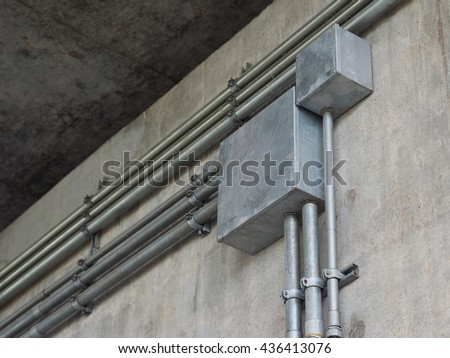 Electrical Conduit & PVC Conduit - stock photo