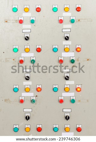Electrical control box for water pump in the water supply plant. - stock photo