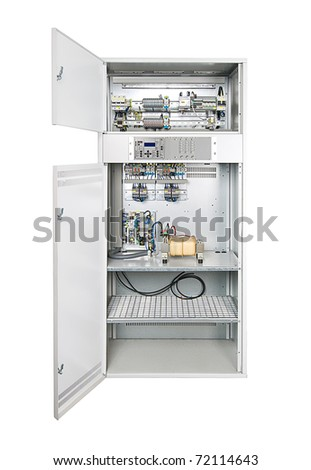 electrical enclosure door open could be stock photo safe to use rh shutterstock com Old Home Fuse Box Diagram Fuse Box Label