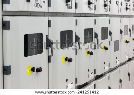 Electrical energy substation.