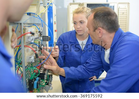 electrical engineering - stock photo