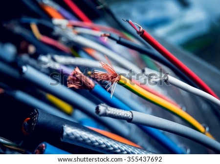 Electrical equipment. Background and texture
