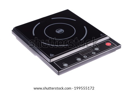 Electrical hob isolated on the white background - stock photo