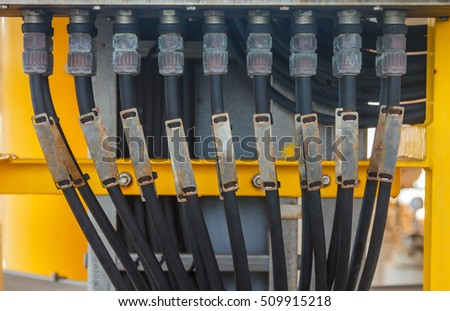 electrical junction box cable gland connection stock photo royalty free 509915218 shutterstock. Black Bedroom Furniture Sets. Home Design Ideas